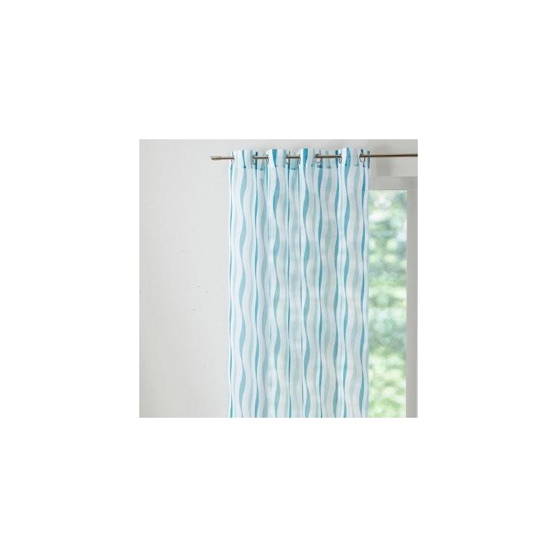 Záclona s potlačou vlniek