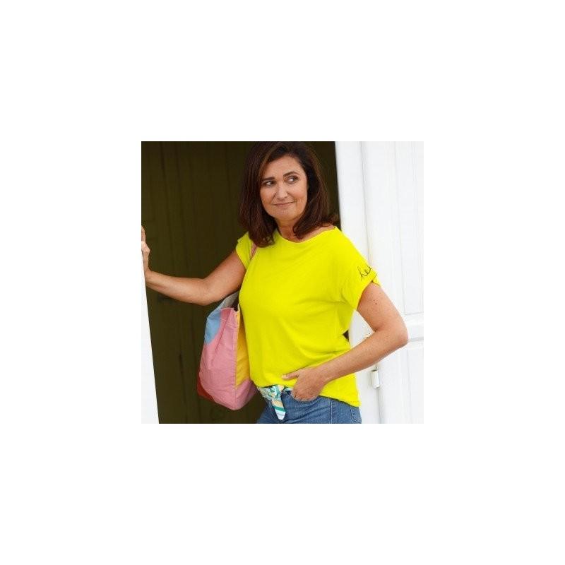 Vzdušné tričko, žlté