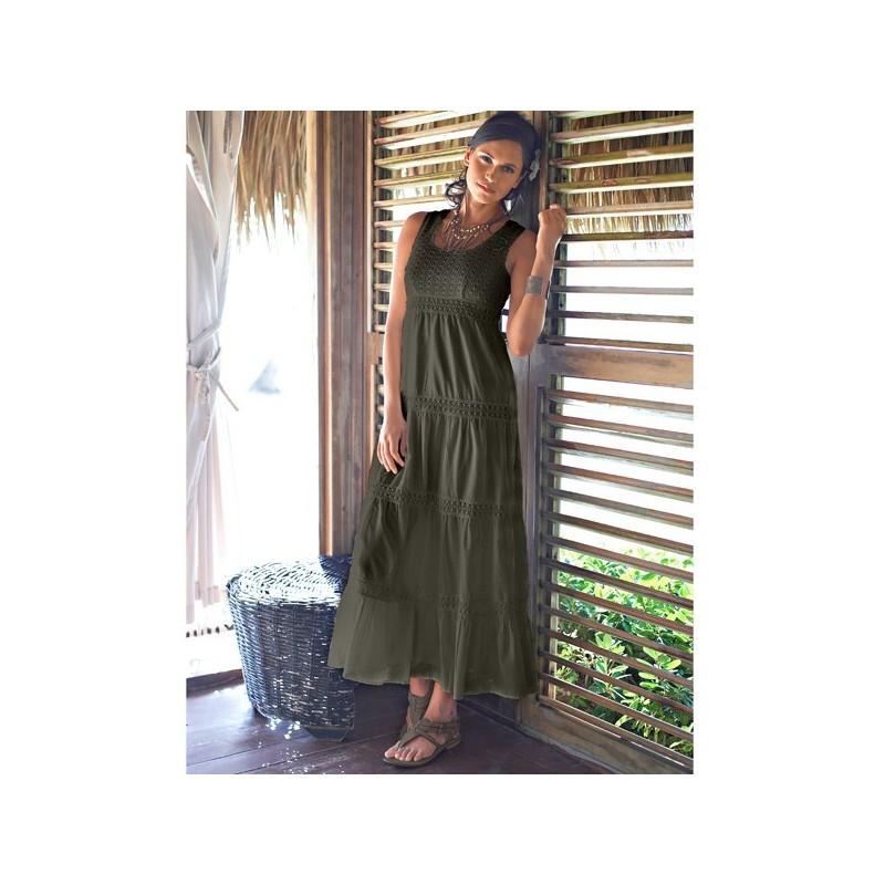 Dlhé šaty jednofarebné