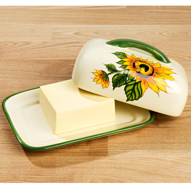 Dóza na máslo Slunečnice onerror=