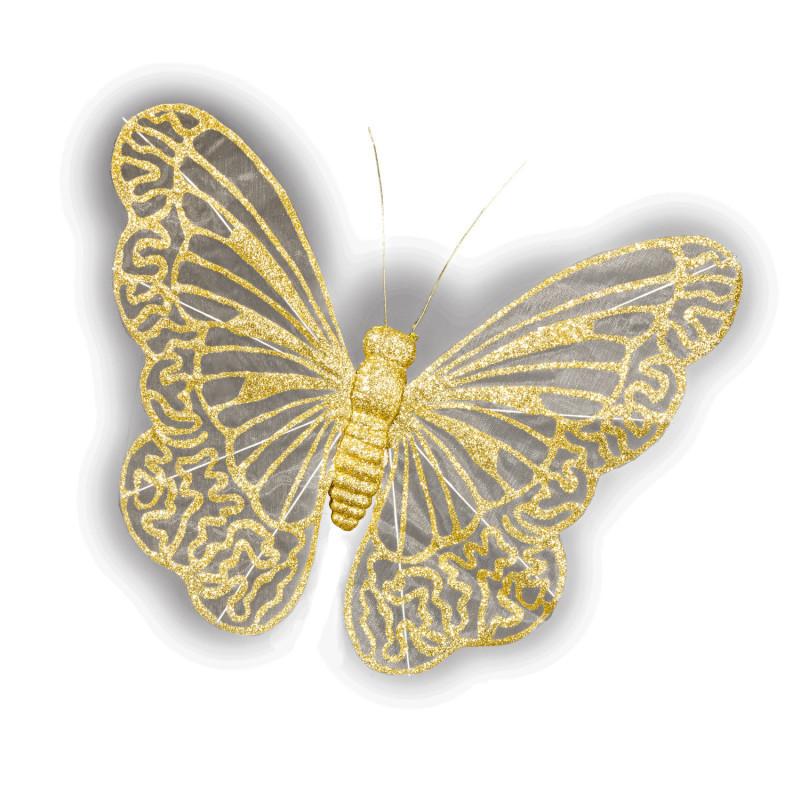 XL zlatý motýľ