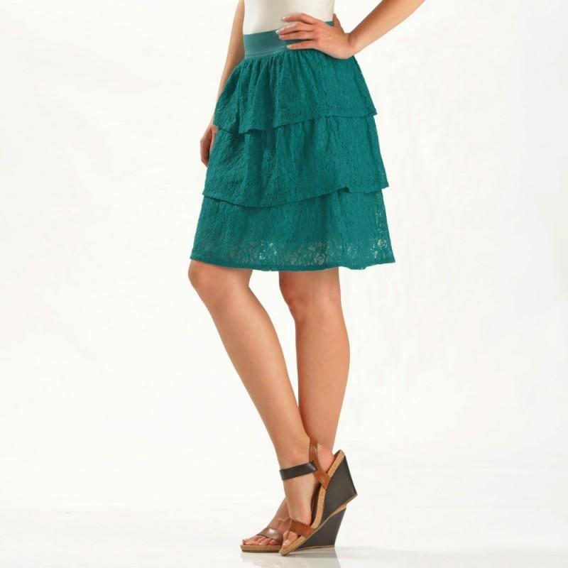 Čipkovaná sukňa