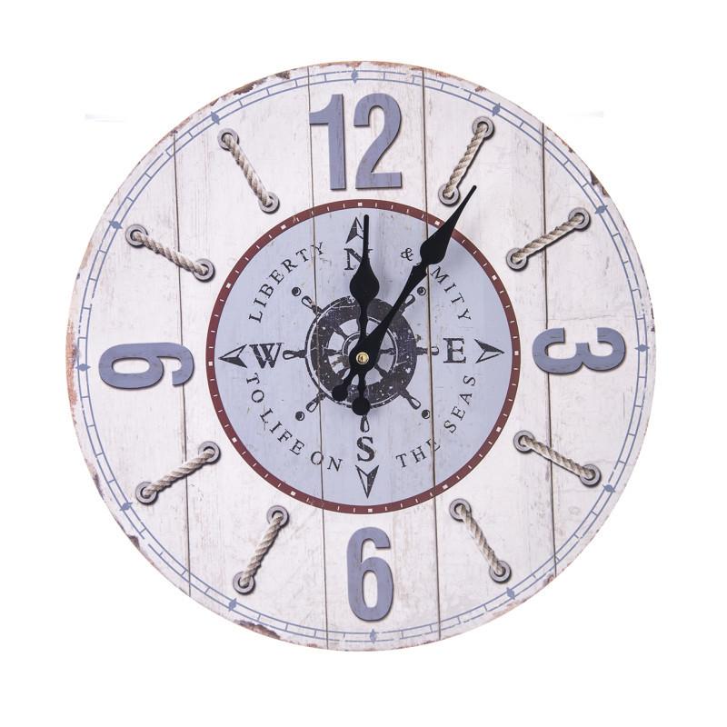 Zegar ścienny drewno onerror=
