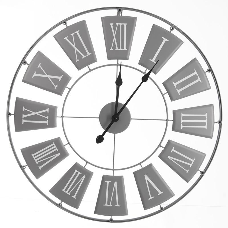 Metalowy zegar ścienny onerror=