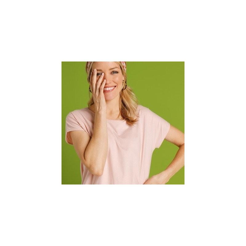 Tričko s krátkými rukávy, pudrově růžové, eco-friendly