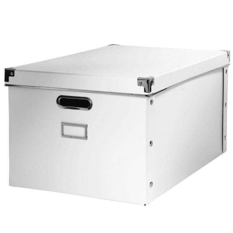 Úložná krabica, biely kartón