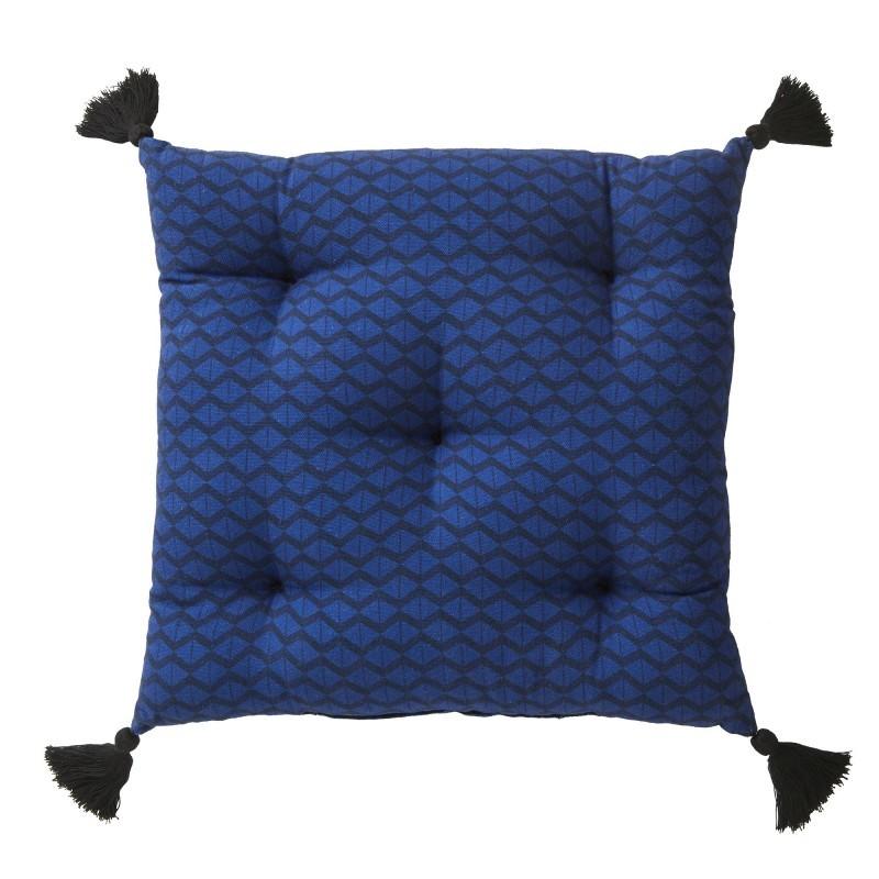 Poduszka na krzesło z frędzlami onerror=