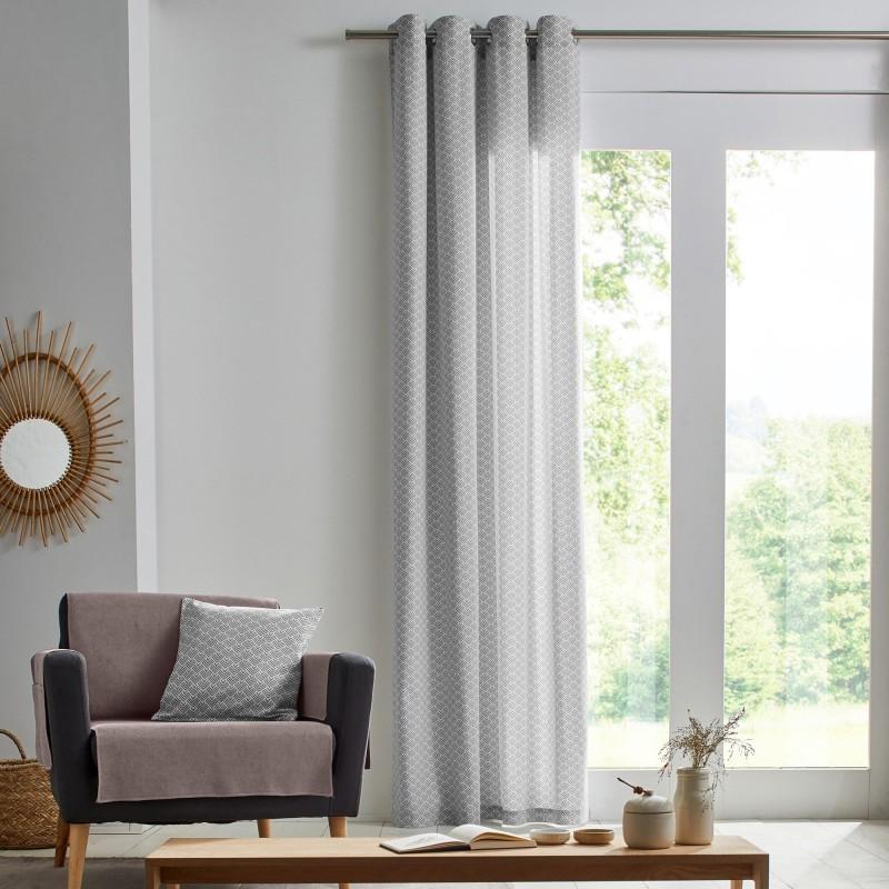 Záclona z bavlny s potiskem
