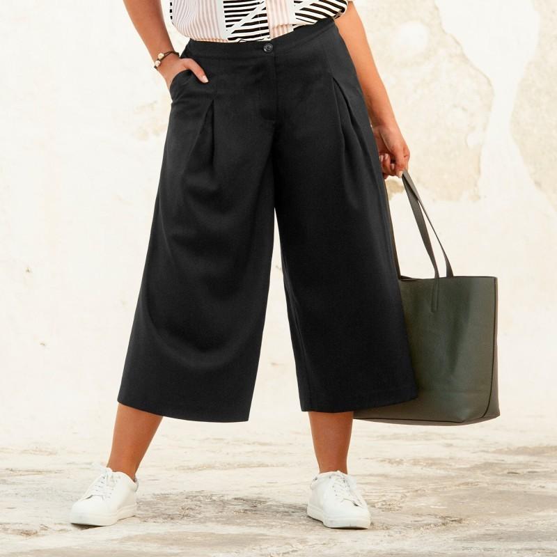 Sukňové nohavice, krátke