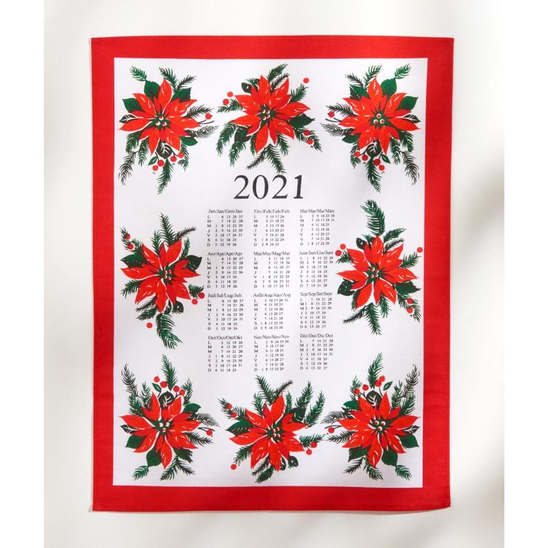 Utěrka/kalendář Vánoční hvězda 2021 onerror=