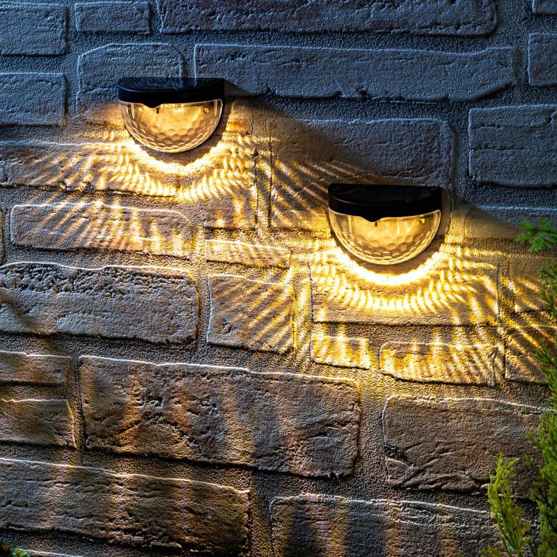 1 solární nástěnná lampa onerror=