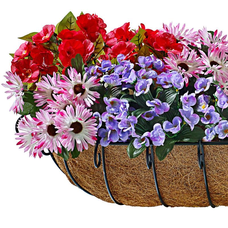 3 pestrobarevné kytice do truhlíků onerror=