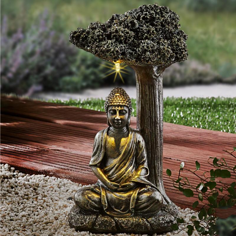 Sedící Buddha pod stromem onerror=