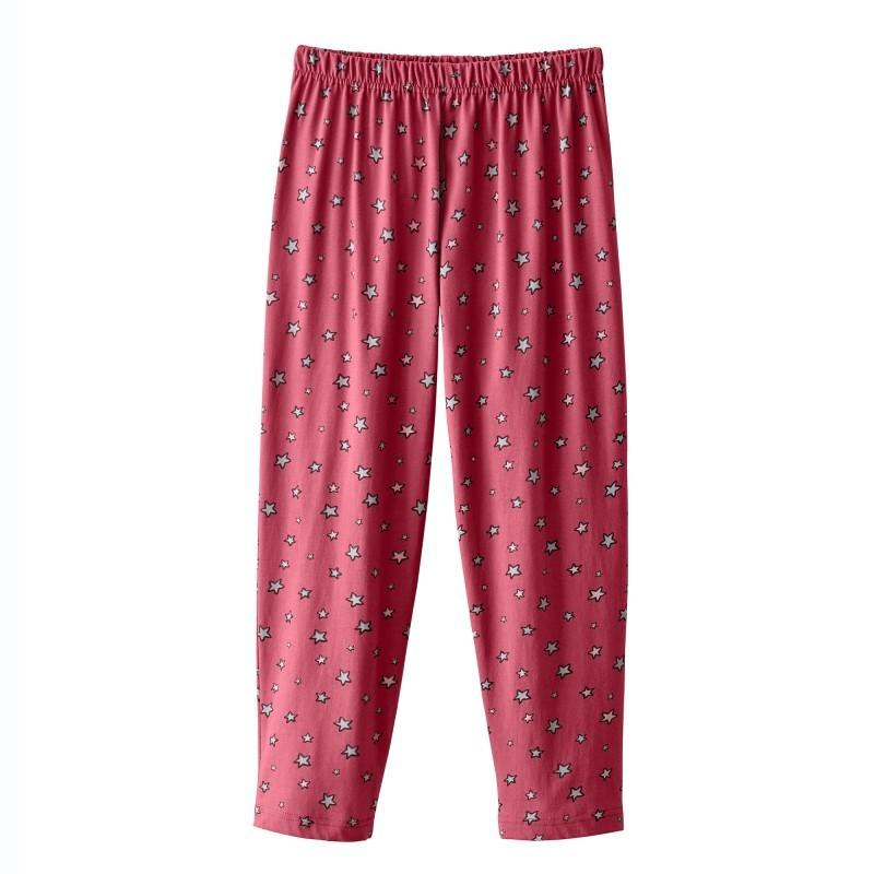 3/4 pyžamové nohavice s potlačou hviezd