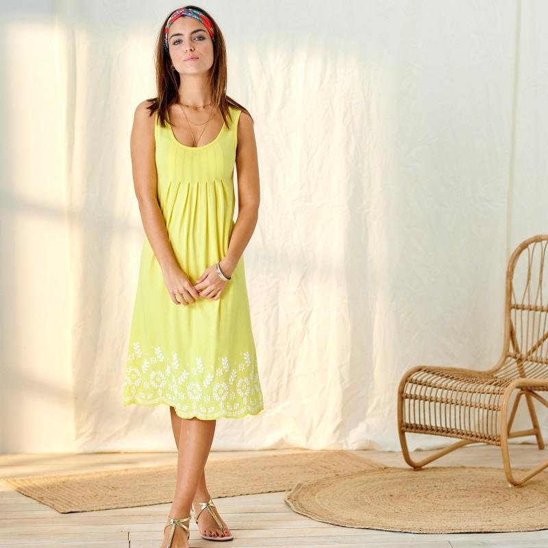 Šaty s potlačou, bavlna/modal