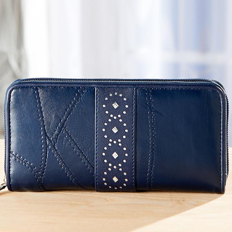 Patchwork kožená peněženka onerror=