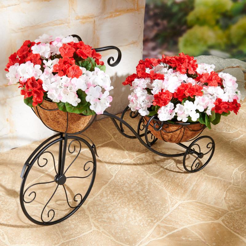 Bicykel s 2 košmi na vysádzanie.