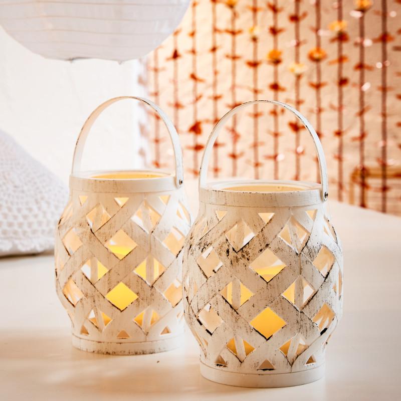 Lampáš s LED sviečkou