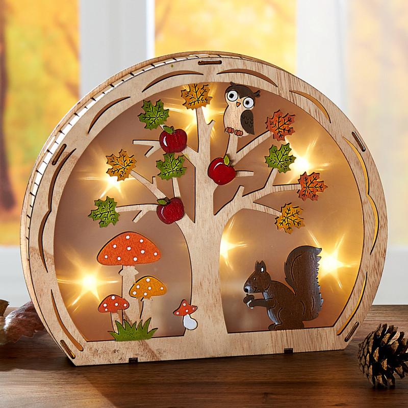 LED dřevěná dekorace onerror=