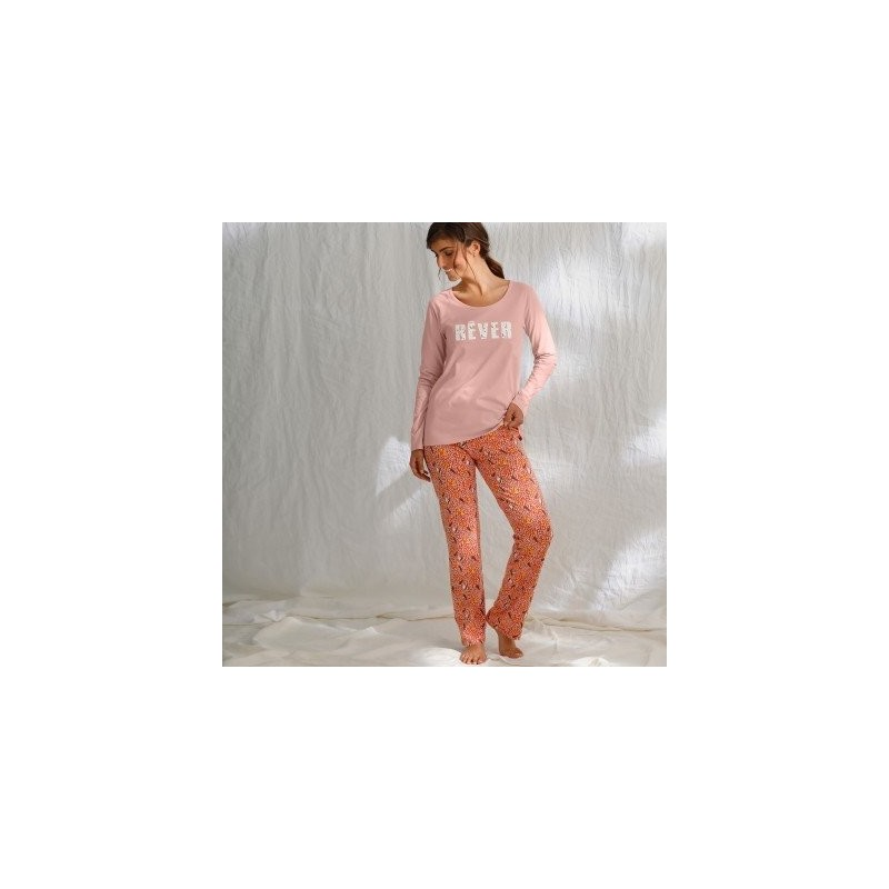 Pyžamové nohavice s potlačou, bio bavlna
