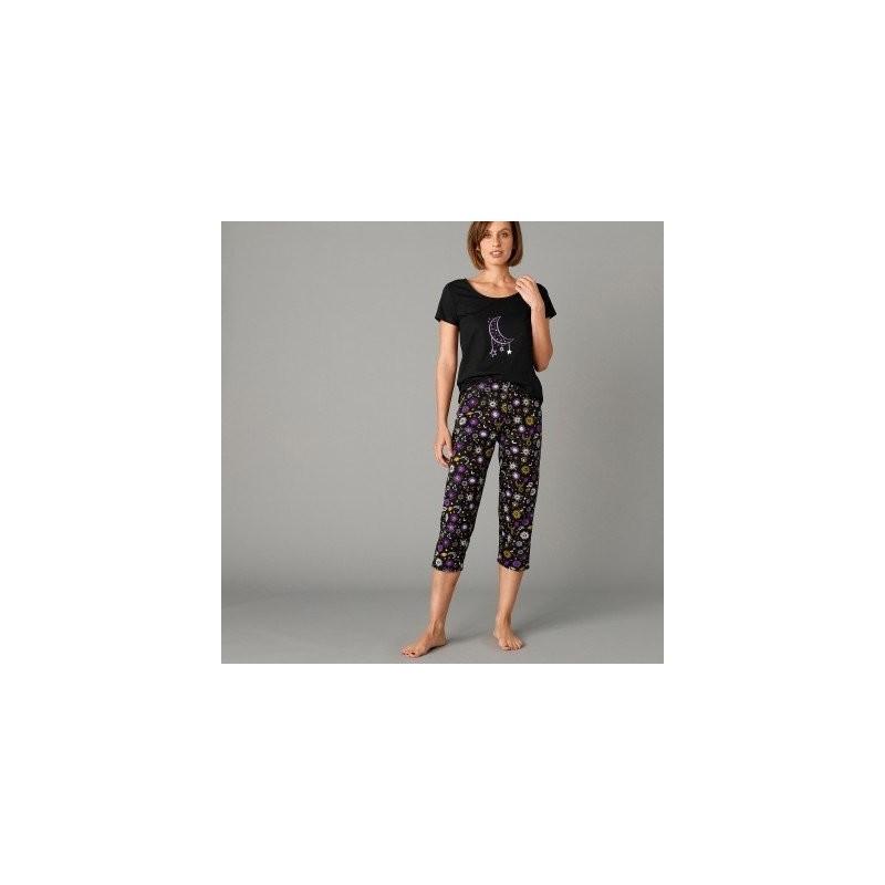 3/4 pyžamové nohavice s potlačou