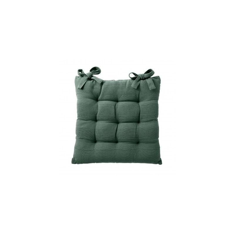 Jednofarebný sedák na stoličku, 2 ks