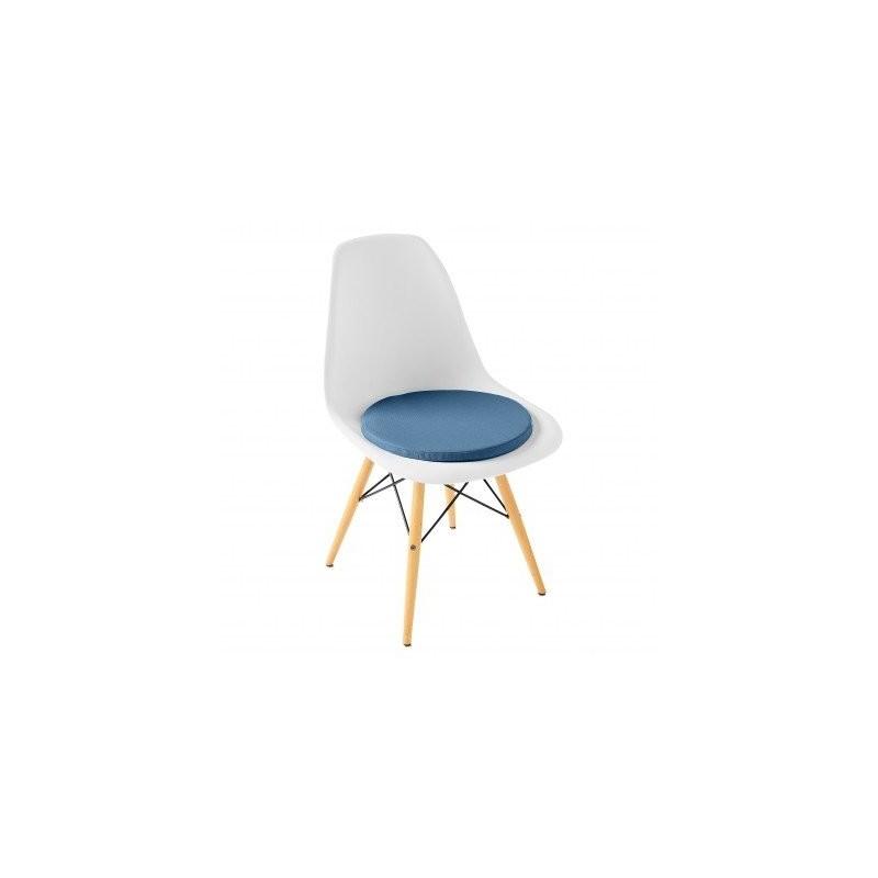 Okrúhly sedák na stoličku, jednofarebný, 2 ks