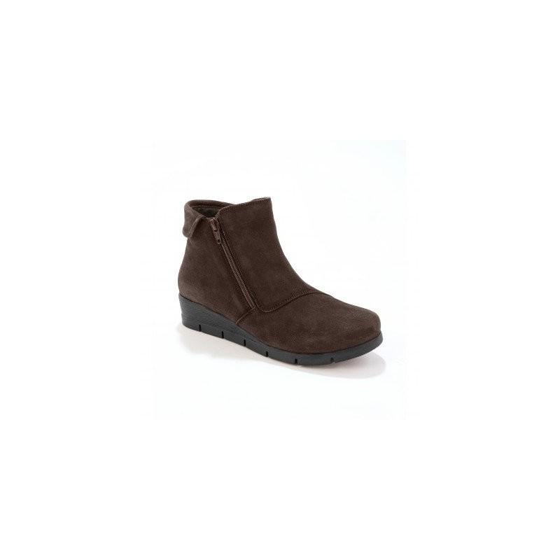 Vysoké kožené topánky s ohrnutím