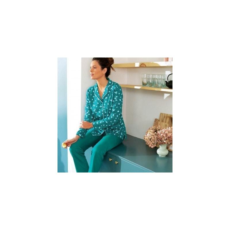 Pyžamo s potlačou a kostýmkovým golierom
