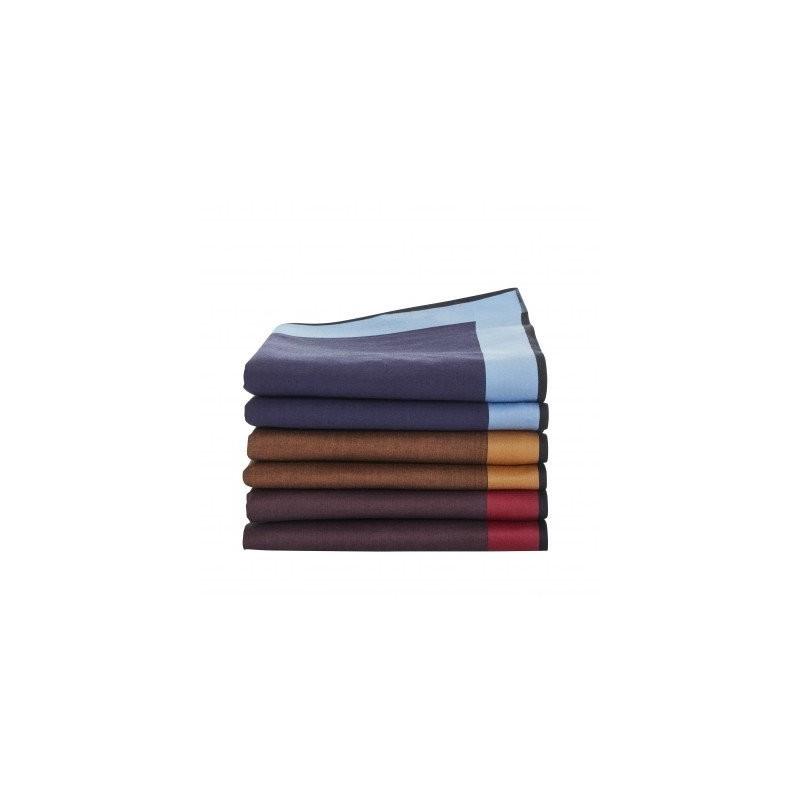 Pánske jednofarebné vreckovky, súprava 6 alebo 12 ks