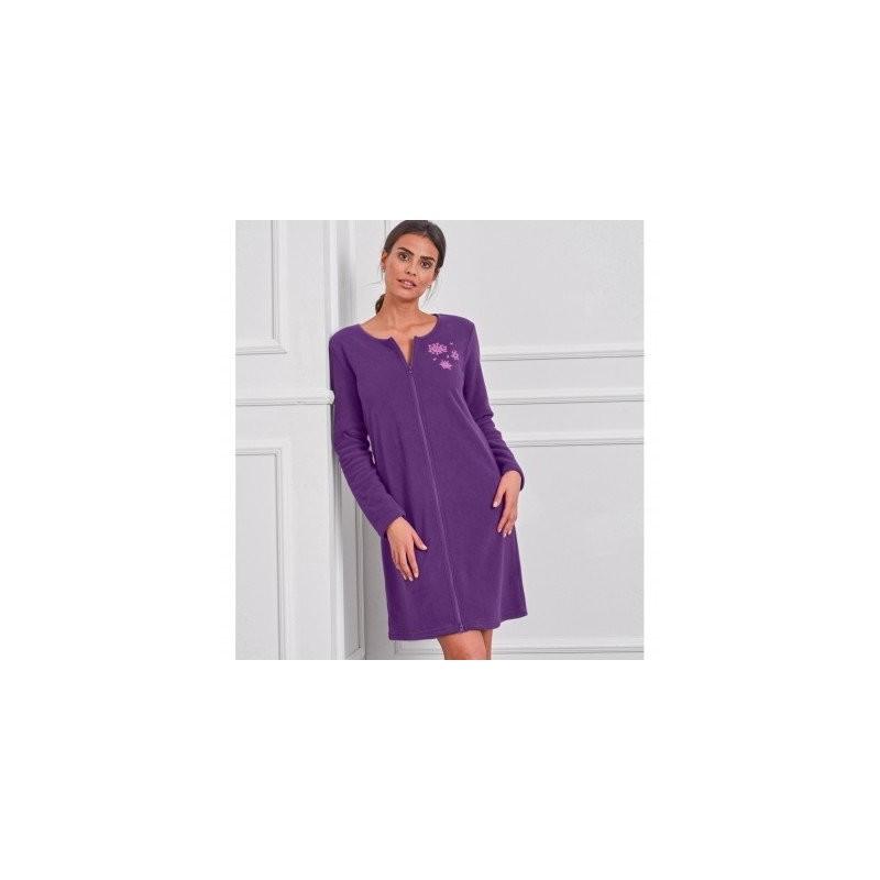 Nočná fleecoavá košeľa s dlhými rukávmi