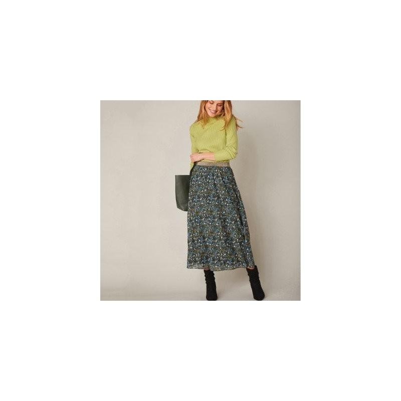 Dlhá rozšírená sukňa s potlačou kvetín