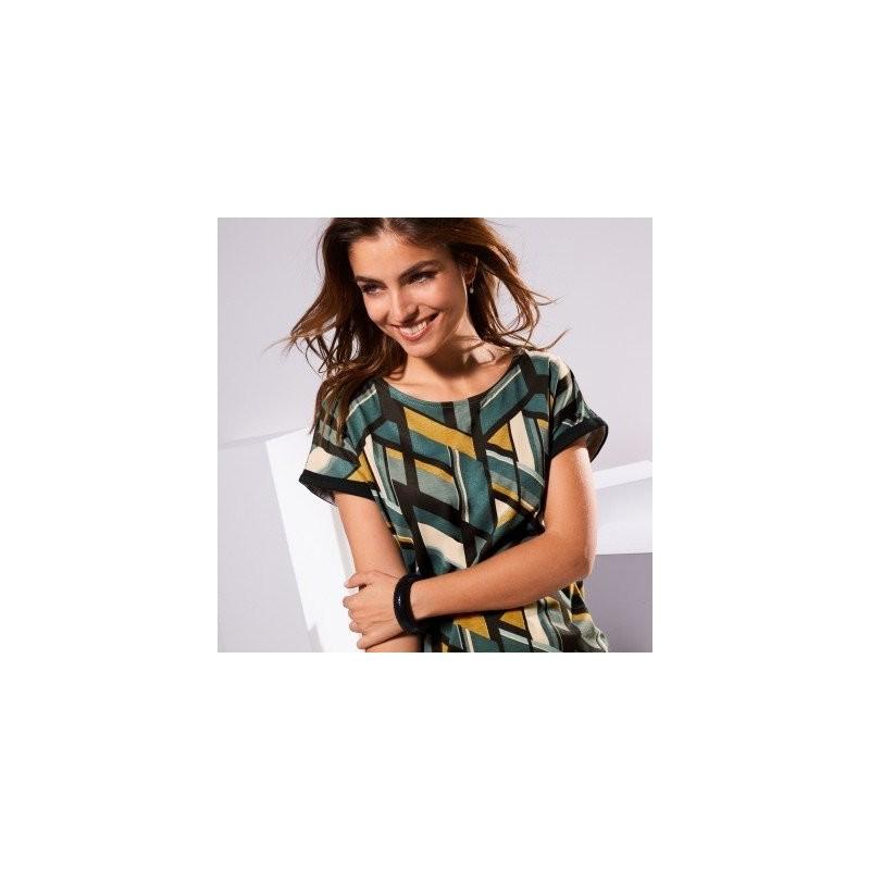 Tričko s grafickým vzorom a krátkymi rukávmi