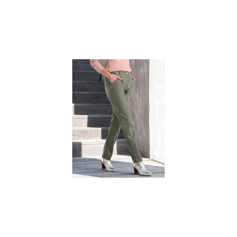 Chino koženkové nohavice