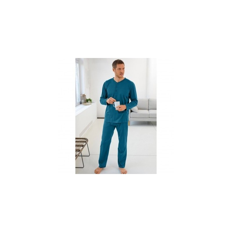 Pyžamo s tuniským výstrihom, jednofarebné