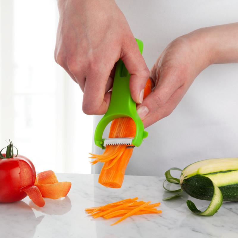 3 škrabky na zeleninu