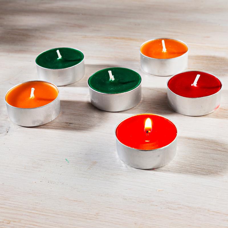 6 vonných čajových sviečok
