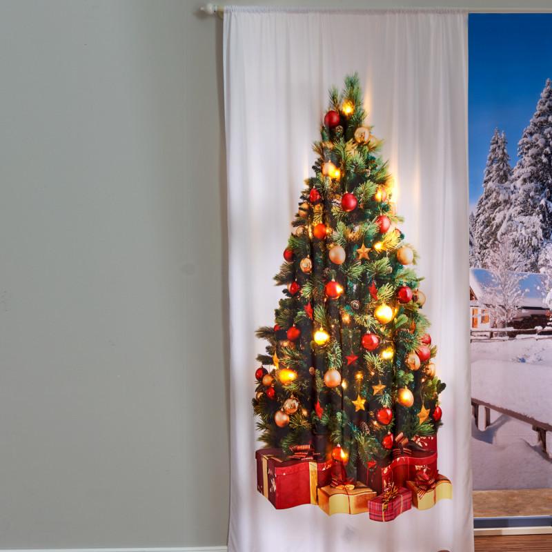 LED záclona na dveře