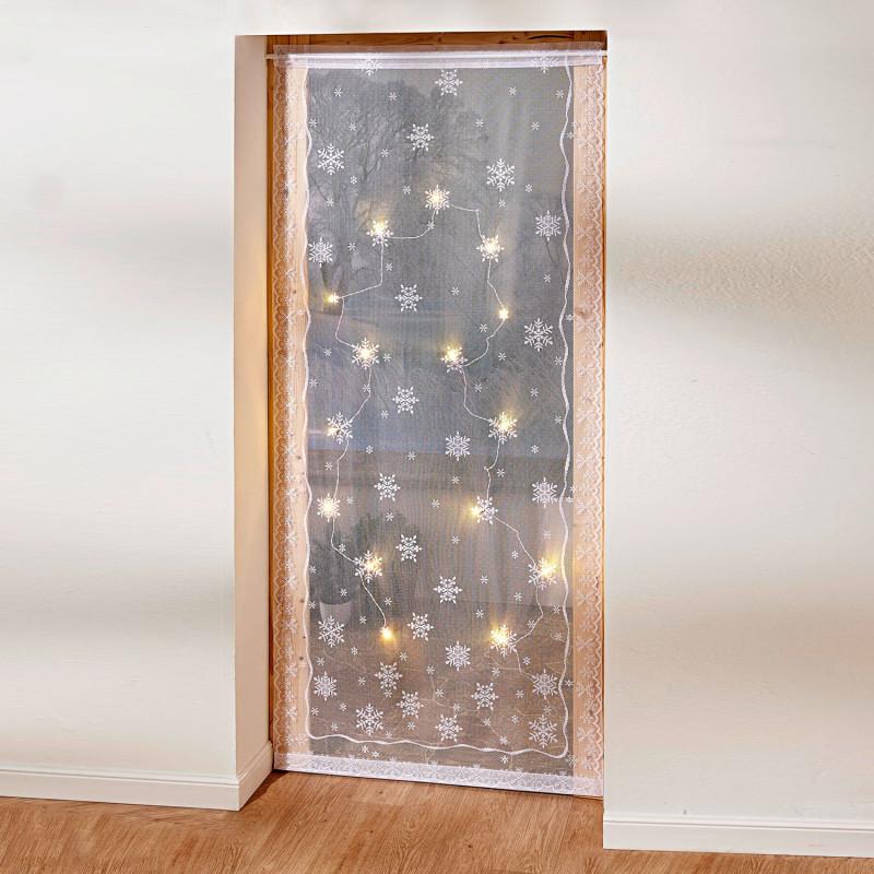 LED záclona do dveří