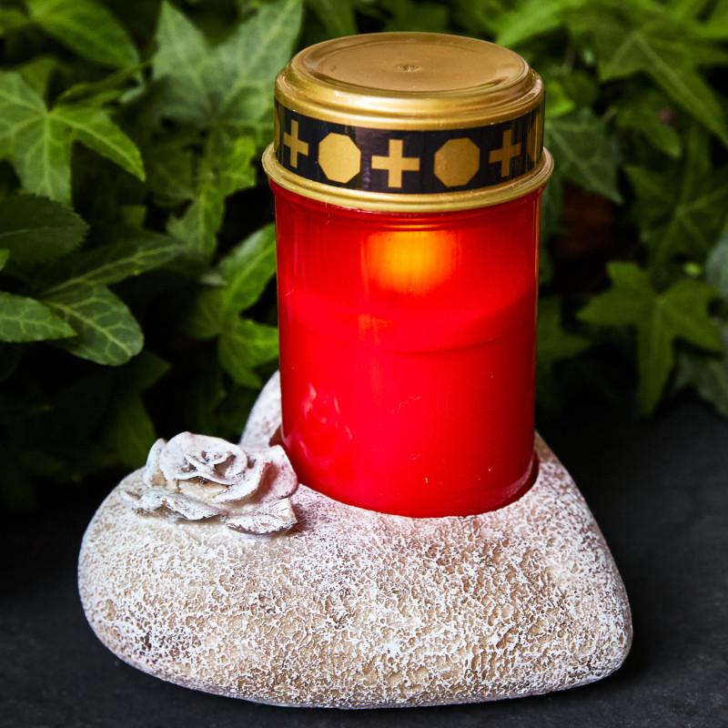 Svietnik na hrobovú sviečku