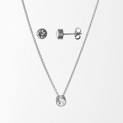 Souprava šperků s krystaly Swarovski, stříbro