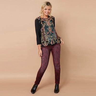 Skinny kalhoty se zebřím vzorem