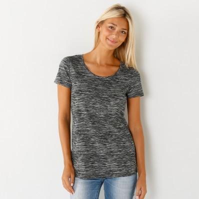Melírované tričko s krátkými rukávy