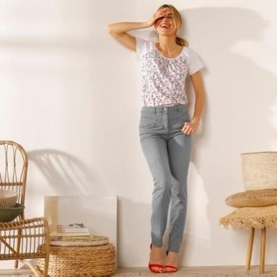 Rovné džínsy  zapratý vzhľad,  ekologické spracovanie