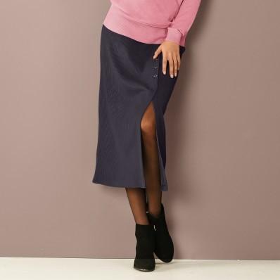 Dlouhá žebrovaná sukně