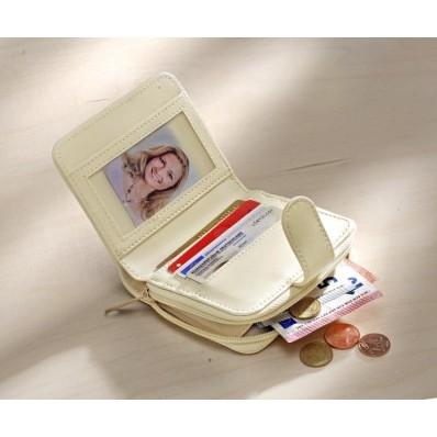 Patchworková peněženka, bílá-přírodní