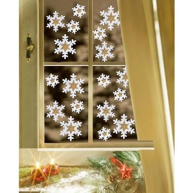 """18 obrázkov na okno """"Snehové vločky"""""""