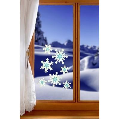 """Obrázok na okno """"Snehové vločky"""""""