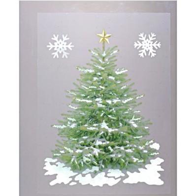 """Obraz na okno """"Svetielkujúci vianočný stromček"""""""