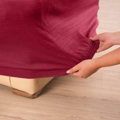 Jednobarevný pružný potah na křeslo a pohovku